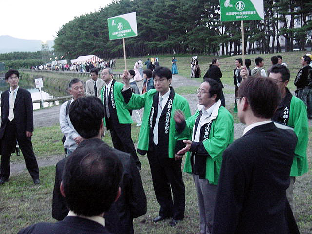 函館野外劇鑑賞会 受付風景